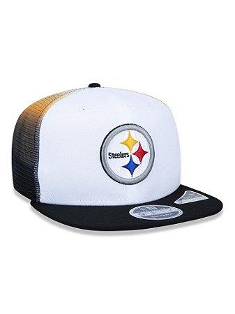 Boné 950 New Era NFL Pittsburgh Steelers Branco/Preto