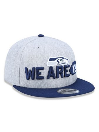 Boné 950 New Era NFL Seattle Seahawks Mescla Cinza