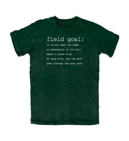 Camiseta PROGear Dictionary: Fieldgoal