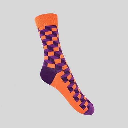 Meia Really Socks Classic Laranja