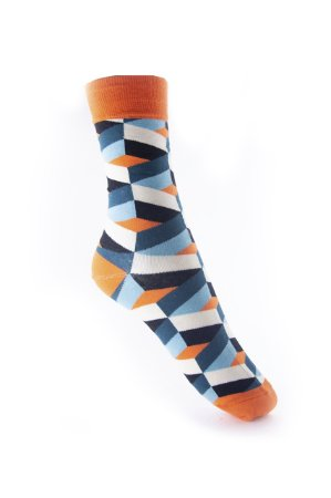 Meia Really Socks Shapes Laranja