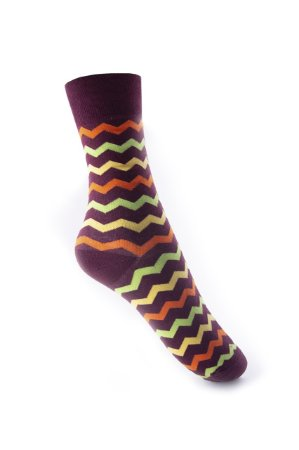 Meia Really Socks Zig Stripe BK