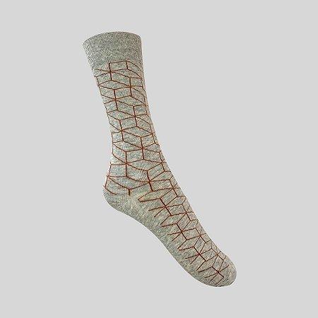 Meia Really Socks Geometric Mescla