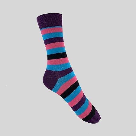 Meia Really Socks Stripes Roxo