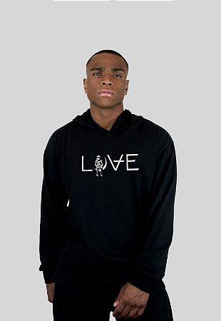 Blusa Action Clothing Love Preto