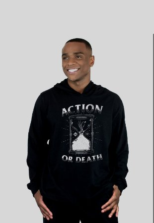 Blusa Action Clothing Action Or Death Preto