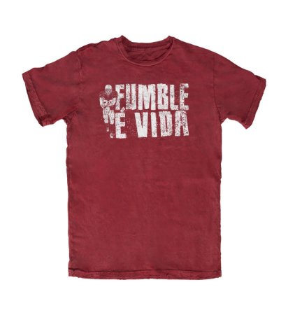 Camiseta Everaldo Marques Fumble É Vida Vinho