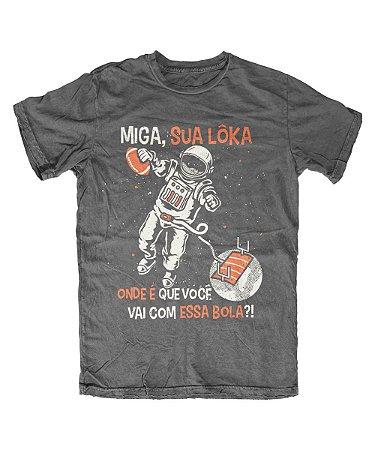 Camiseta Everaldo Marques Miga Sua Lôka Chumbo