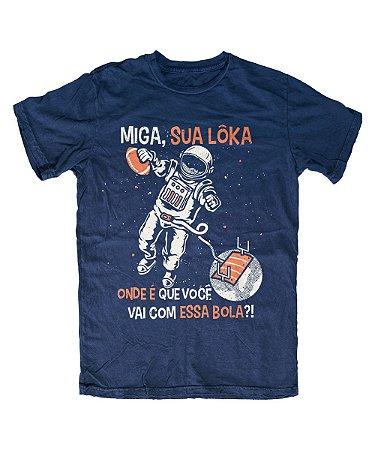 Camiseta Everaldo Marques Miga Sua Lôka Marinho