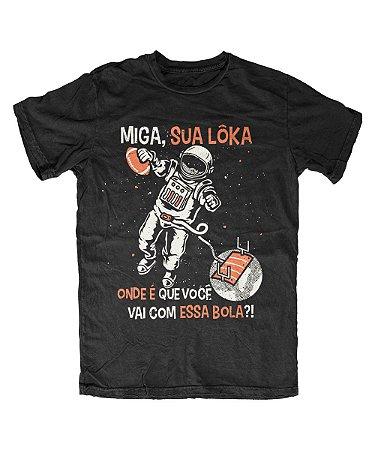 Camiseta Everaldo Marques Miga Sua Lôka Preta