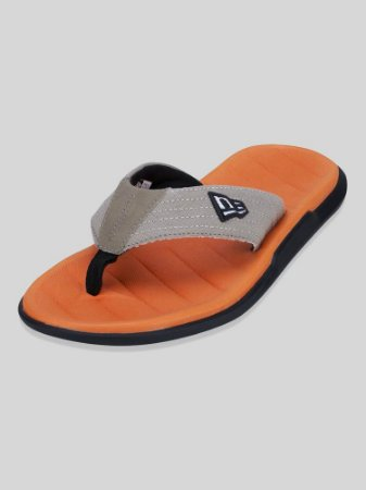 Chinelo New Era Dedo Branded Preto/Laranja