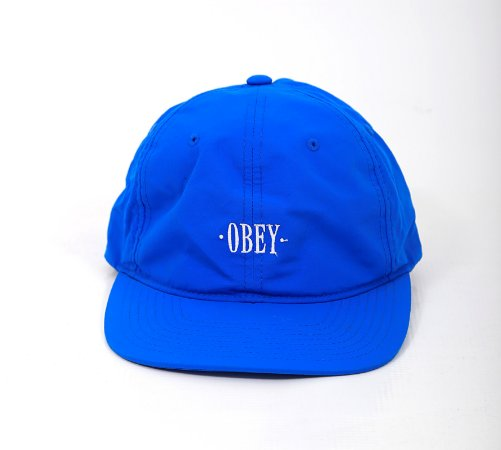 Six Panel Strapback Obey Azul