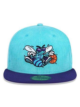 Boné New Era 5950 Charlotte Hornets Azul/Roxo