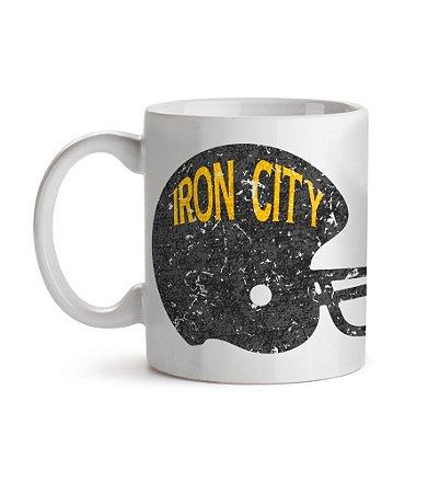 Caneca Helmet Pittsburgh Iron City Branca