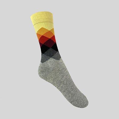 Meia Really Socks Diamante Cinza