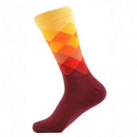 Meia Really Socks Diamante Marsala