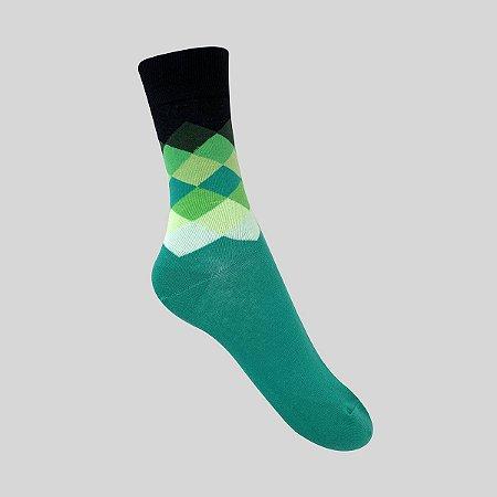 Meia Really Socks Diamante Verde