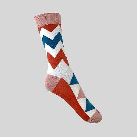 Meia Really Socks Zig Stripe Zig Zag