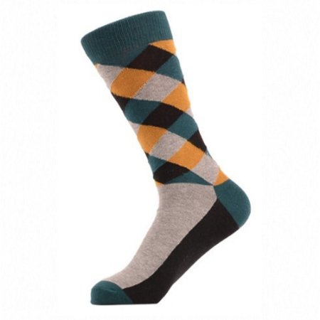 Meia Really Socks Patchwork Cinza
