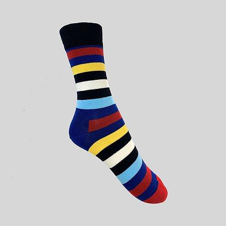 Meia Really Socks Stripes Azul