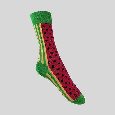 Meia Really Socks Food Melancia