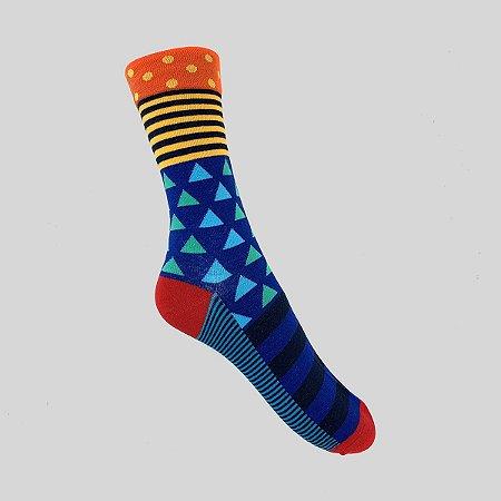 Meia Really Socks Really Colorful Color Triangle