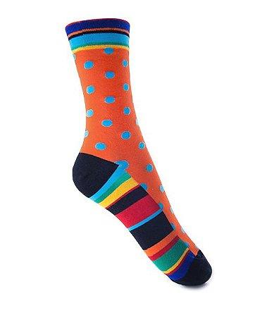 Meia Really Socks Really Colorful Color Dots