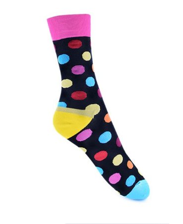 Meia Really Socks Big Dot Preto