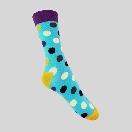 Meia Really Socks Big Dot Azul