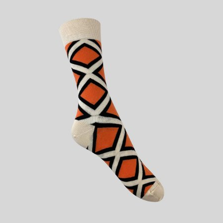 Meia Really Socks Shapes Laranja