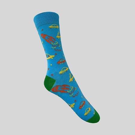 Meia Really Socks Space To the stars