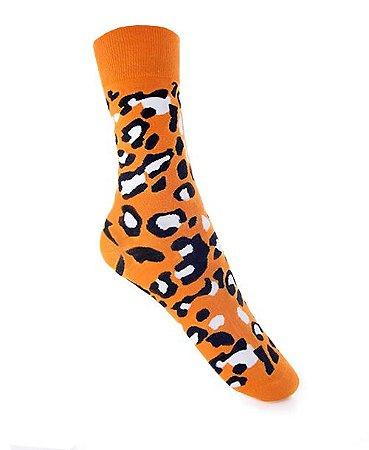 Meia Really Socks Animal Print Jaguar