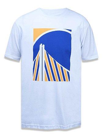 Camiseta NBA New Era Golden State Warriors Color Block Stripes