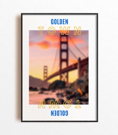 Poster NBA Golden State City
