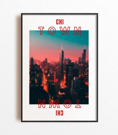Poster NBA Chicago City