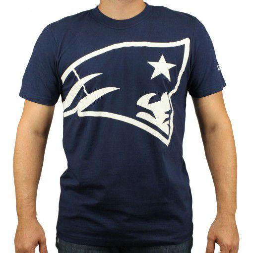 Camiseta New Era Oversize New England Patriots Marinho