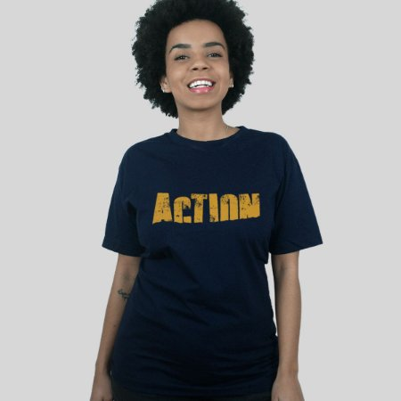 Camiseta Action Clothing Sign Azul Marinho
