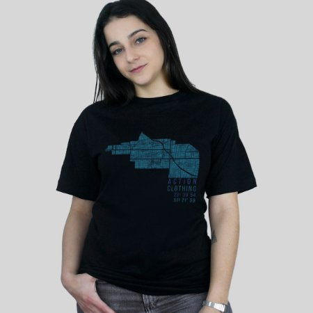 Camiseta Action Clothing Latitude Preta