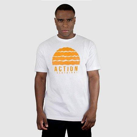 Camiseta Action Clothing Gradient Branca