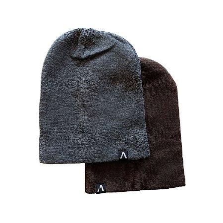 Kit Gorro Action Clothing Chumbo + Marrom