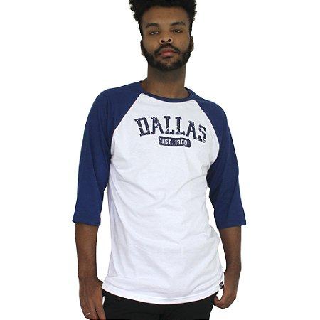Raglan Profootball Dallas Branco/Marinho