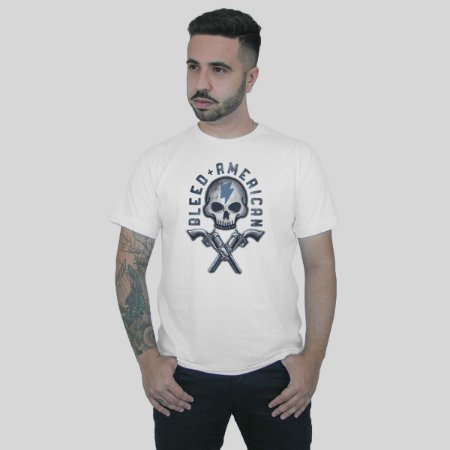Camiseta Bleed American Skull Walker Signature