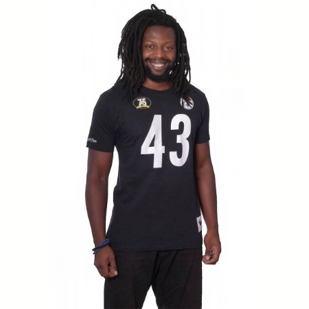 Camiseta NFL Mitchell and Ness Pittsburgh Stellers 43 Troy Polamalu