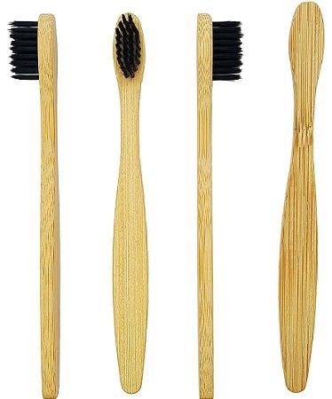 Kit 4 Escovas de Dente de Bambu | Infantil