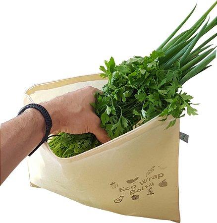 EcoWrap Bolsa   Tecido Encerado   Vegano