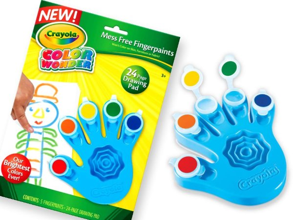 Kit de Pintura a Dedo da Crayola que não suja e não mancha