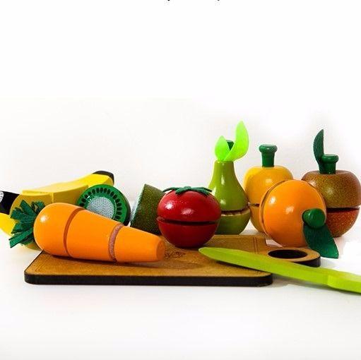 Kit Frutas e Legumes de Brinquedo Com Corte - Newart