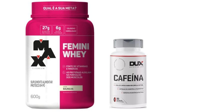 Whey Protein Femini Whey 600g + Cafeína 90 capsulas