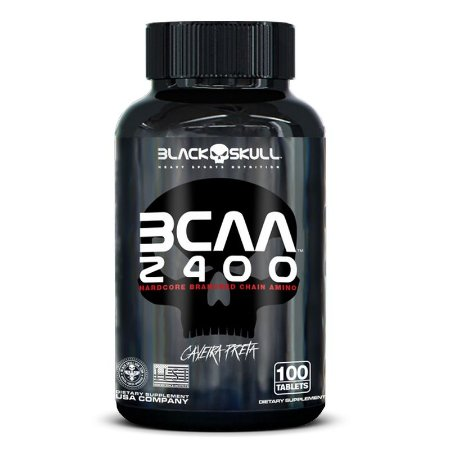 BCAA 2400 Black Skull 100 Tabs vencimento .02/2021