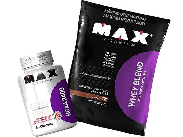 Whey Protein Blend  2Kg + Bcaa - Max Titanium